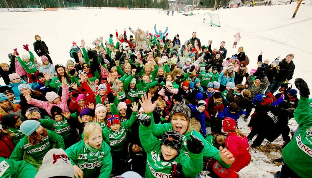 <strong><b>STERKT ENGASJEMENT:</strong></b> Roterud IL vant sin klasse i fjor, og engasjementet synes like sterkt i år. Lillehammer-klubben har grep om førsteplassen for fleridrettslag under 500 medlemmer, men Siddis Sportsklubb følger like bak. Foto: Kristin Svorte/Dagbladet
