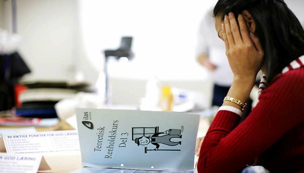 <strong><b>FORBUD:</strong></b> I dag vedtar Stortinget at det skal bli forbudt å kjøpe sex i Norge. Liv Jessen mener det er avgjørende at de som likevel vil fortsette å selge sex får hjelp og veiledning. Bildet er fra et jobbkurs på Pro Sentret. Foto: Espen Røst