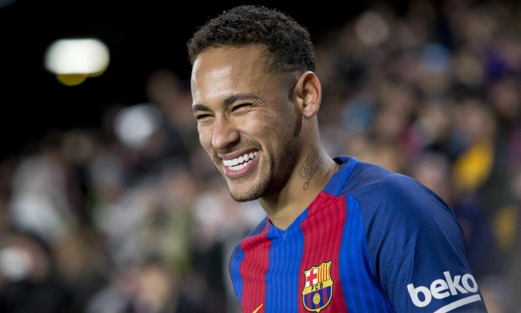 NUMMER FEM: Barcelonas Neymar. Foto: Albert Llop / Anadolu Agency