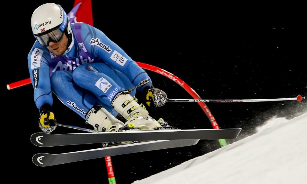 I AKSJON: Kjetil Jansrud klarte ikke å gjenta bragden fra i fjor. Foto: AP Photo/Gabriele Facciotti/NTB Scanpix