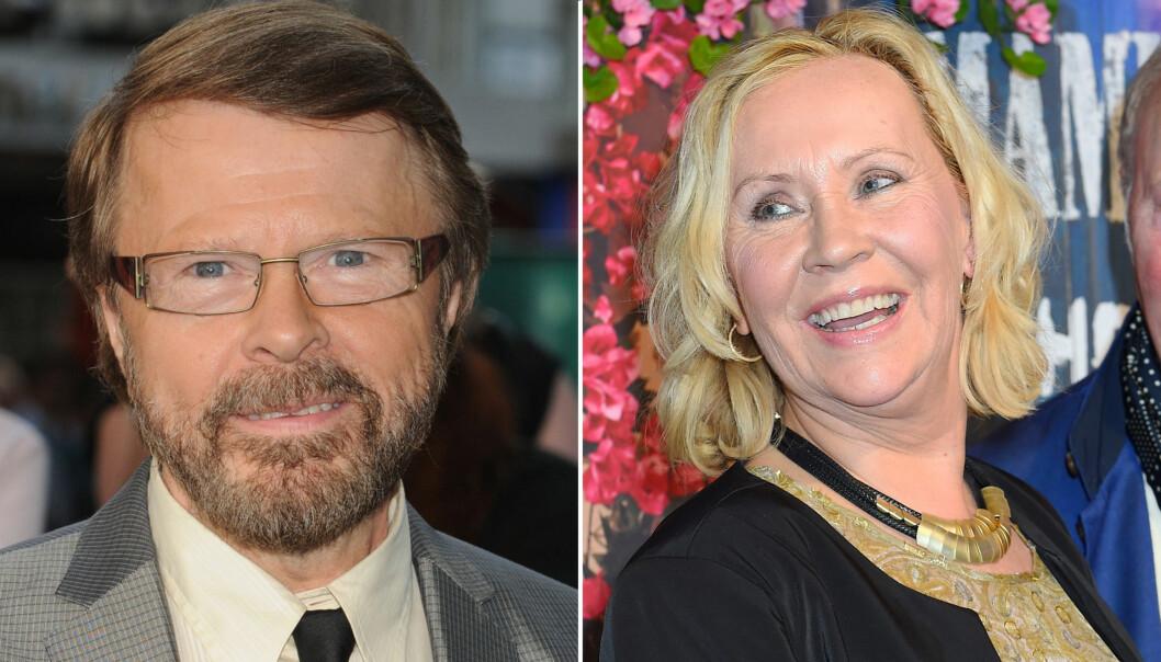 GOD KONTAKT: Björn Ulvaeus sier han fortsatt har god kontakt med eks-kona og tidligere ABBA-kollega Agnetha Fältskog. Foto: Scanpix