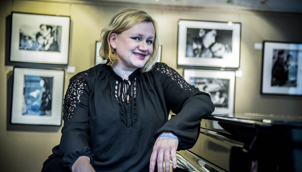 TILBAKE PÅ TV: For snart ett år siden var Laila Goody å se som VG-redaktør i dramaserien «Mammon». Nå er hun tilbake i nok en NRK-satsing, som forskningslederen Grethe i «Valkyrien». Foto: Thomas Rasmus Skaug / Dagbladet