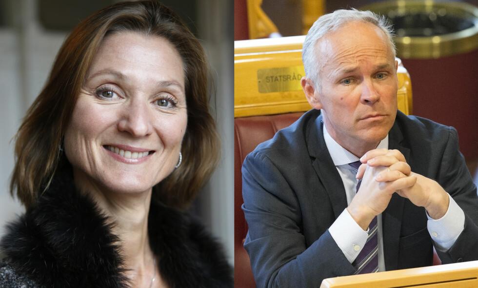 ALLIERTE: Slottets kommunikasjonssjef Marianne Hagen samarbeidet i flere måneder med statsråd Jan Tore Sanner (H) og hans ansatte. Foto: NTB scanpix