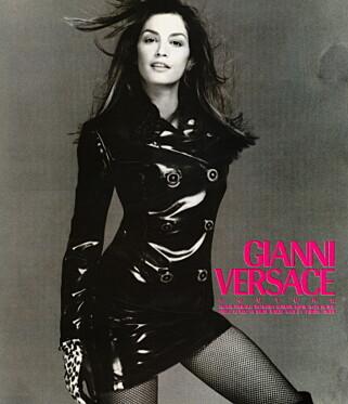 EN AV DE STØRSTE: Cindy Crawford har gjort det stort som modell, og har utallige kampanjer på CVen. Foto: Versace