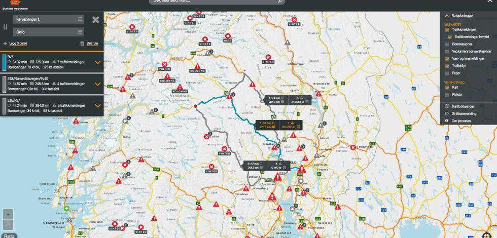 image: Vegvesenets Trafikk-tjeneste hjelper deg å planlegge juleturen