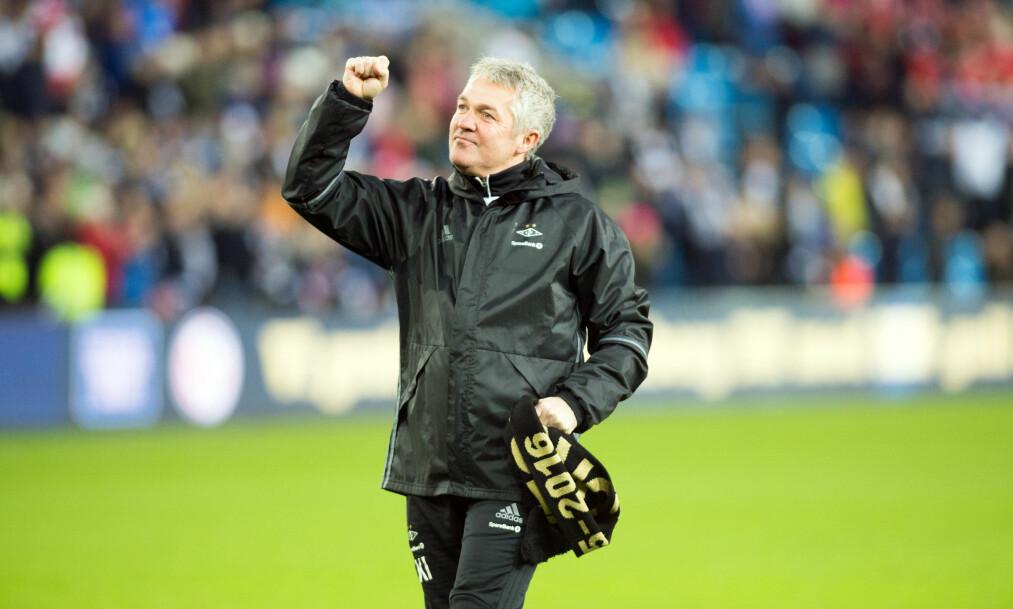 <strong>GULL-TRENER:</strong> Kåre Ingebrigtsen ledet RBK til serie- og cupgull. Kjernen forstår ikke at treneren ikke er nominert til Årets trener på Idrettsgallaen. Foto: NTB Scanpix
