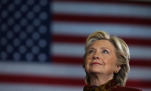 Nominert for Demokratene: Hillary Clinton, som første kvinne. Foto: Carlos Barria / Reuters / NTB Scanpix