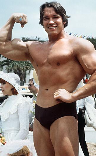 BERØMT KROPPSBYGGER: Arnold Schwarzeneggers suksess som kroppsbygger førte til at han fikk tilbud om filmroller i Hollywood. Foto: NTB Scanpix