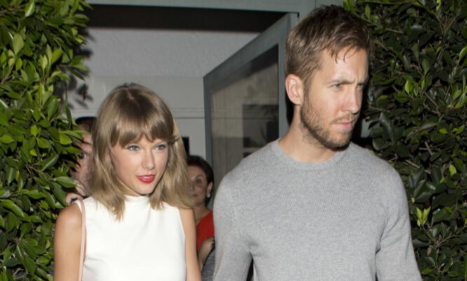 <p>SAMMEN I 15 MÅNEDER: Taylor Swift og Calvin Harris. Foto: NTB Scanpix </p>