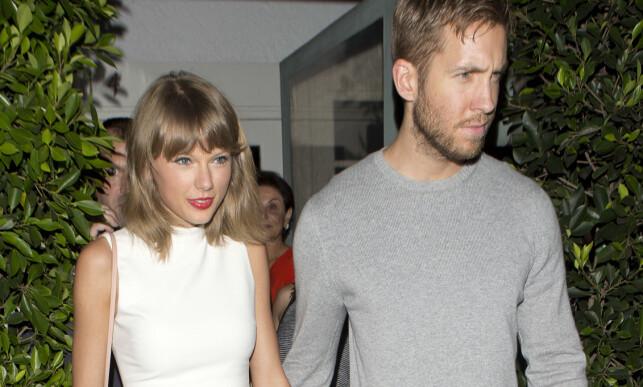 SAMMEN I 15 MÅNEDER: Taylor Swift og Calvin Harris. Foto: NTB Scanpix
