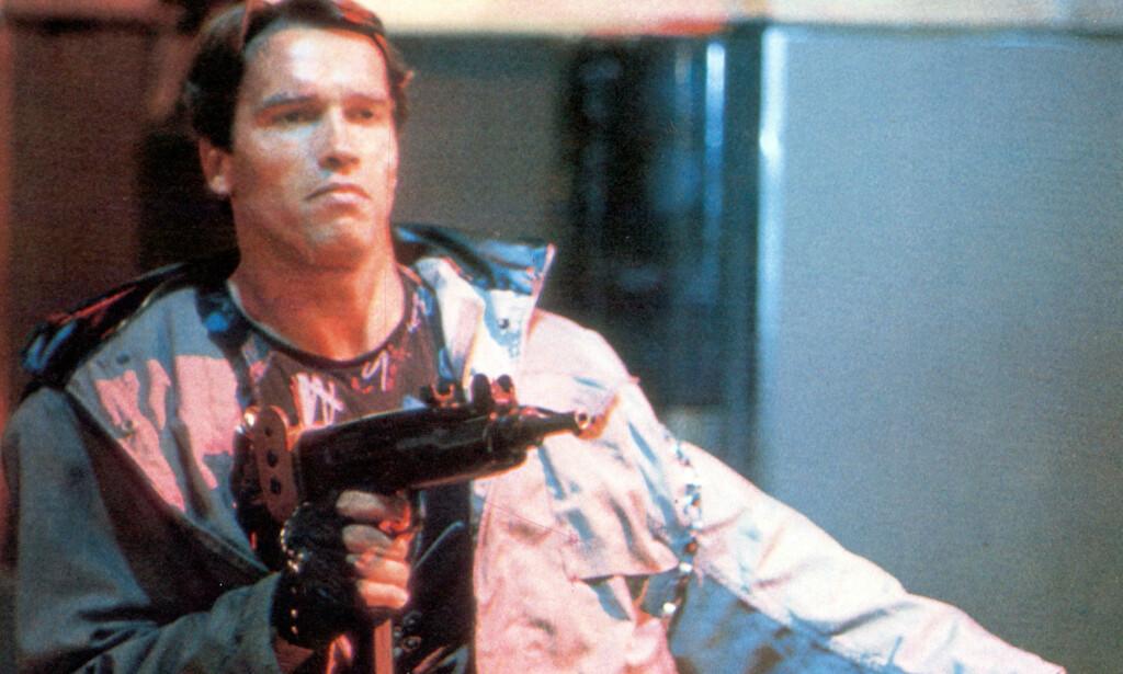 FILMSTJERNE: Arnold i filmen «The Terminator» fra 1984. Foto: NTB Scanpix