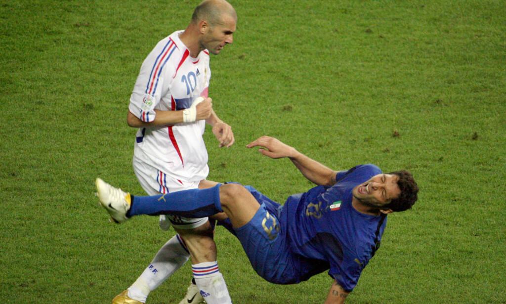 SKALLET NED: Zinedine Zidane fikk nok.