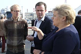KLIMAFORKJEMPER: Marius Holm ( i midten) er daglig leder i ZERO. Foto: Vidar Ruud / NTB scanpix