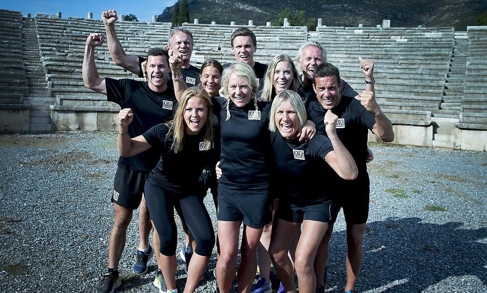 TV-KLARE: Neste års «Mesternes mester»-deltakere samlet på innspilling i Hellas. Foto: Bjørn Langsem / Dagbladet