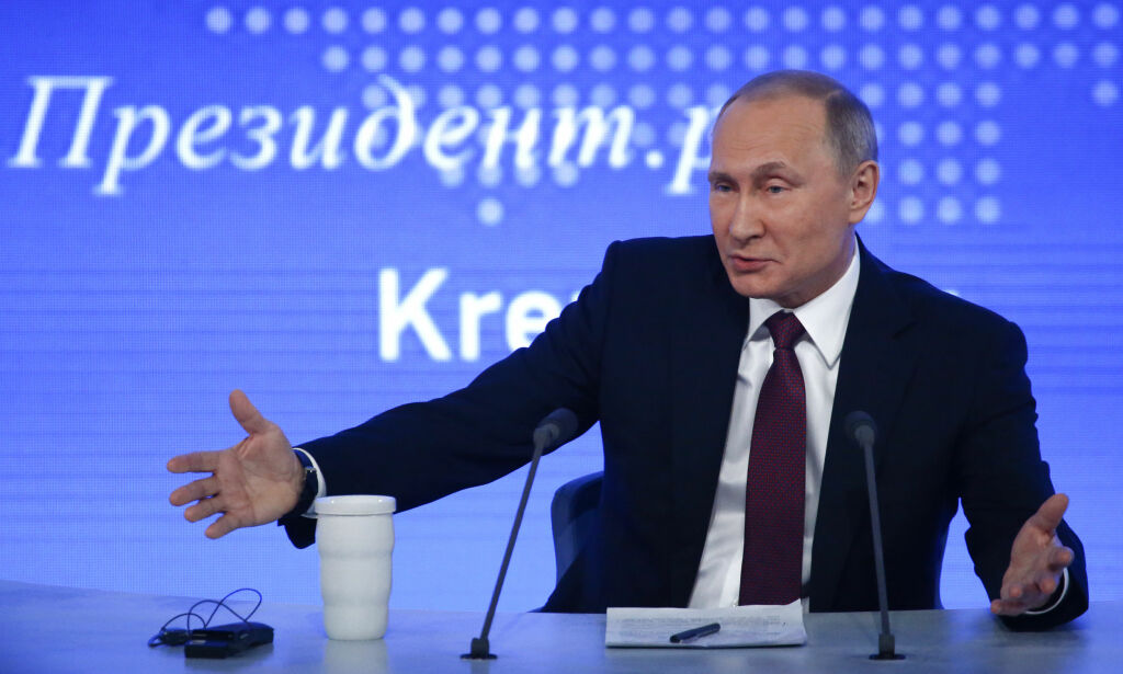 image: Hissig Putin raser mot Trump-kritikere: -Oppspinn