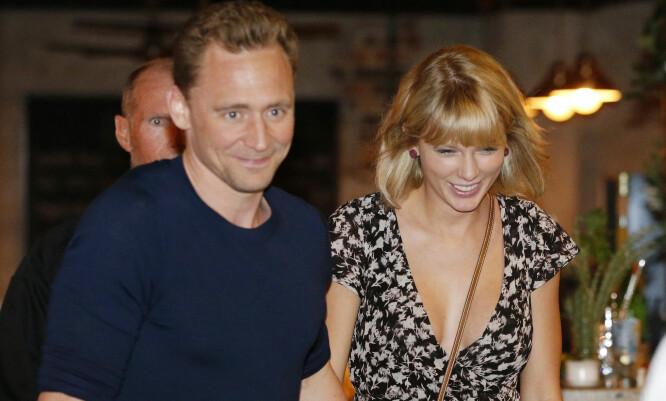 SAMMEN I TRE MÅNEDER: Tom Hiddleston og Taylor Swift. Foto: NTB Scanpix