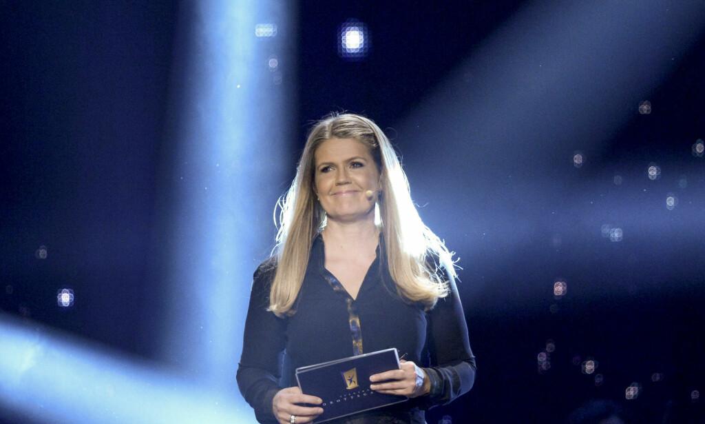 BLE DRAPSTRUET: Marie Lehmann deler ut Sportspegelns pris på Idrottsgalan i Sverige hvert år, men ved forrige anledning var det drama i kulissene Foto: Maja Suslin / TT / NTB Scanpix