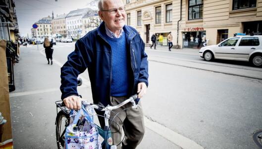 <strong>FORTSATT AKTIV:</strong> Scheie kommer seg ut i aktivitet hver morgen. Her fra en sykkeltur tidligere i år. Foto: Bjørn Langsem / Dagbladet