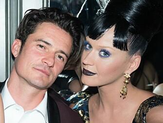 <strong>STJERNEPAR:</strong> Orlando Bloom og Katy Perry har valgt å forholde seg tause om forholdet, til tross for at de gjerne viser kjærligheten offentlig. Foto: NTB scanpix
