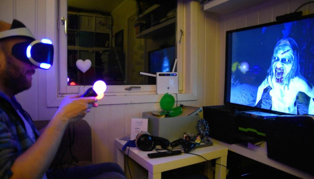 <strong>HELT RÅTT:</strong> Playstation VR brakte kunstig virkelighet til massene i 2016. Foto: Pål Joakim Pollen