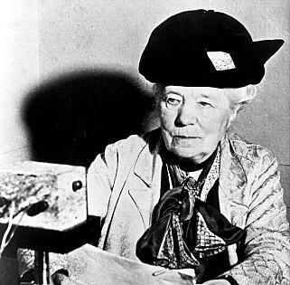 NOBELPRISVINNER: Den svensk forfatter og Nobelprisvinner i litteratur Selma Lagerlöf.  Foto:  Riksradion