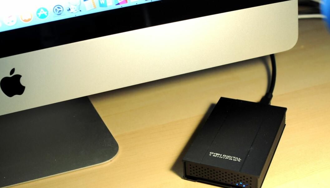 <strong>ØKER FARTEN:</strong> Med &nbsp;en ekstern SSD kan du få en 7-8 år gammel Mac til å bli som ny igjen. (Foto: Tore Neset)