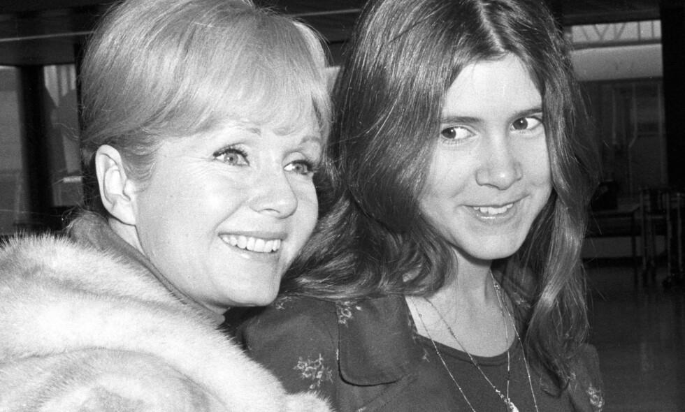DØDE SAMME UKE: De kjente amerikanske skuespillerne Debbie Reynolds og datteren hennes, Carrie Fisher, døde begge to denne uka. Nå vil Fishers bror at de skal gravlegges sammen. Foto: NTB scanpix