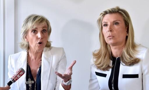FORSVARER: Advokatene Janine Bonaggiunta og Nathalie Tomasini har det siste året kjempet for Jacqueline Sauvages løslatelse. Foto: Alain Jocard / AFP / NTB Scanpix