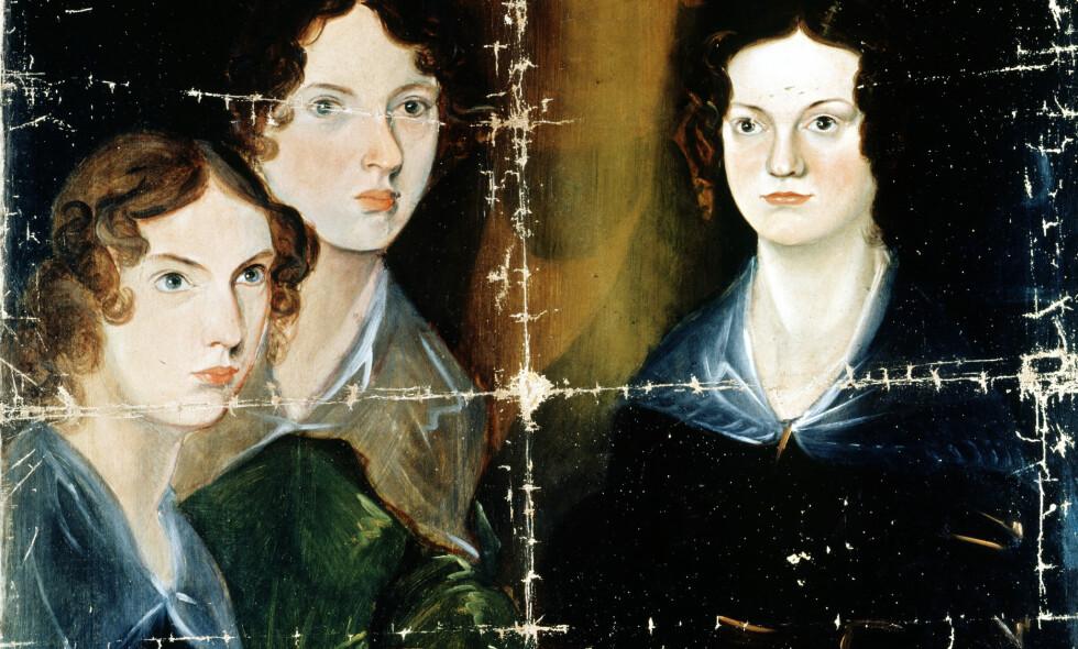 MALTE SØSTRENE: Maleriet Branwell laget av søstrene Charlotte, Emily og Anne Brontë henger i National Portrait Gallery i London. Mens søstrene ga ut bøker pleiet de broren som var alkoholiker og rusmisbruker.