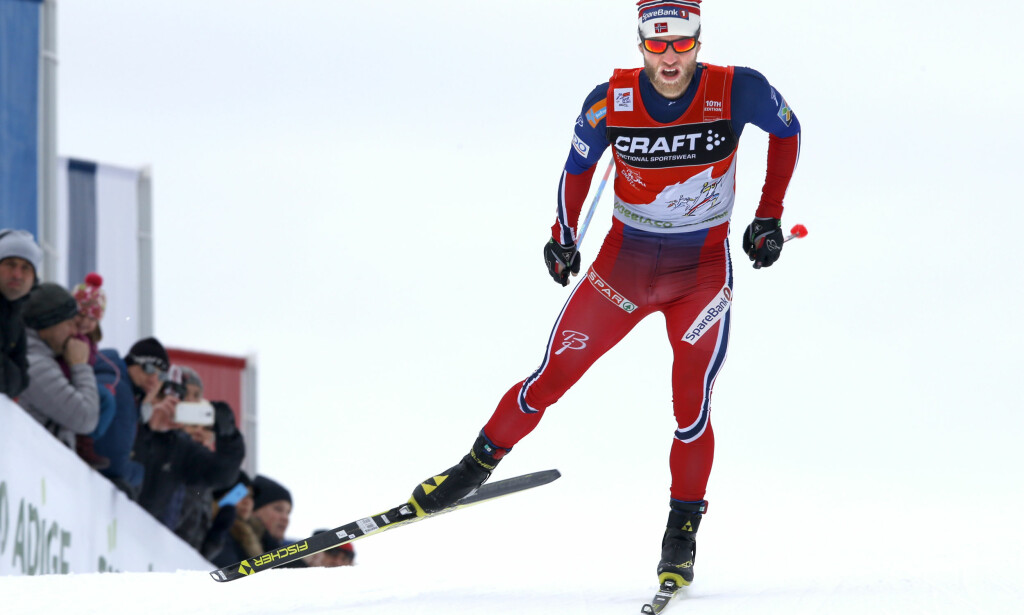 NØKKELPUNKTET: Akkurat her, over brua som går ved siden av målområdet i Toblach, ser Martin Johnsrud Sundby for seg at han skal avjgøre årets Tour de Ski til sin fordel. Foto: Terje Pedersen / NTB Scanpix
