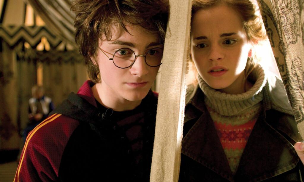 VILLE IKKE: Daniel Radcliffe ville ikke bli skuespiller og takket dermed pent nei til å stille til audition for rollen som Harry Potter, men ble overtalt til å prøvespille i siste liten. Her ser vi ham sammen med Emma Watson, som spilte venninnen Hermine. Foto: NTB Scanpix