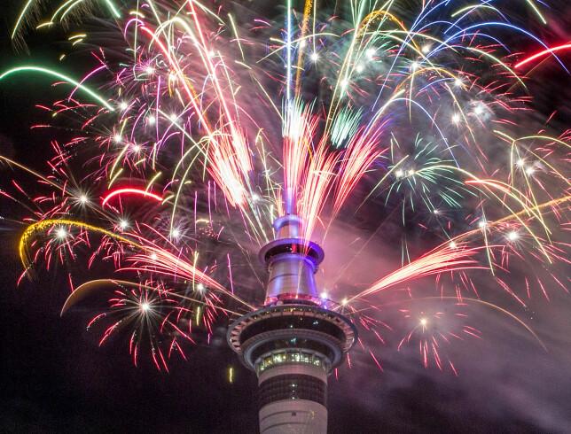 FEIRING: Sky Tower i New Zealands største by Auckland. Foto: AP / NTB Scanpic