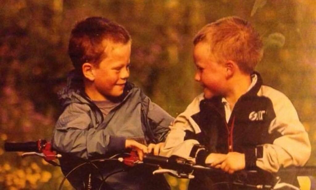 GODE VENNER: Truls Korsæth (til venstre) og tvillingbroren Erik har vært aktive helt siden de to var småtasser. FOTO: Privat