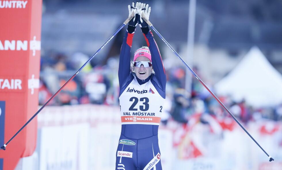JUBLET FOR FINALE: Katrine Rosted Harsem fra semifinalene Foto: Terje Pedersen / NTB Scanpix