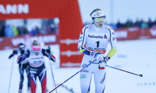 I EGEN KLASSE: Stina Nilsson smadret all motstand i finalen. Foto: Terje Pedersen / NTB Scanpix