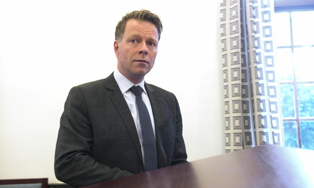 UENIG: Bjarte Aarlie møtte som forsvarer i fengslingsmøte til den utilregnelige mannen. Han er uenig i at mannen nå skal sitte i fengsel i påvente av dom. Foto: Marit Hommedal / NTB scanpix