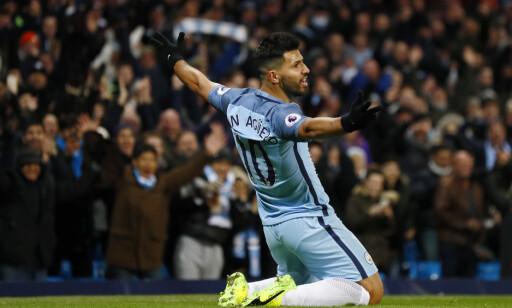 TILBAKE: Sergio Aguero scoret sitt første mål etter suspensjonen da han satte inn Manchester Citys andre mål mot Burnley. Foto: NTB Scanpix