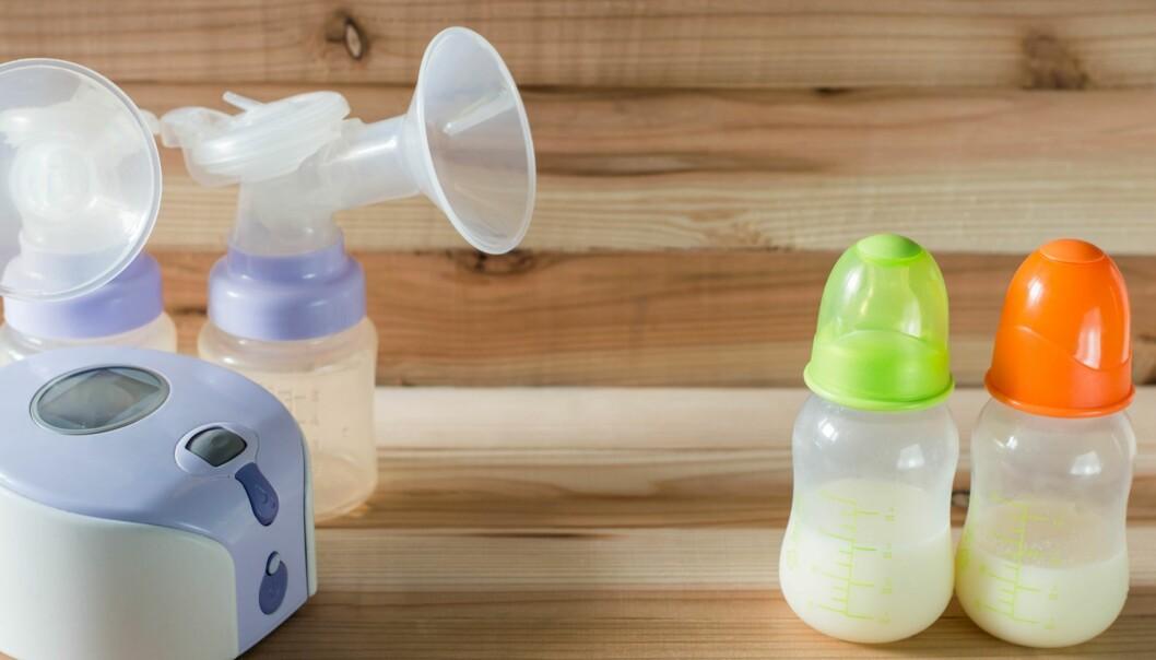 <strong>ELEKTRISK PUMPE TIL BRYSTMELK:</strong> Det finnes forskjellige typer elektriske pumper som kan kjøpes på apoteket, eller leies fra apotek eller sykehus. Foto: NTB Scanpix