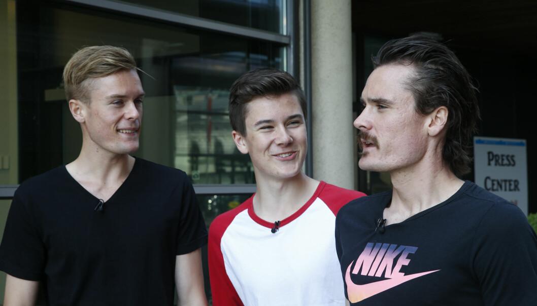 <strong>RASK TRIO:</strong> Både Filip, Jakob og Henrik Ingebrigtsen gjør det svært skarpt på friidrettsbanen. Foto: Terje Pedersen / NTB scanpix