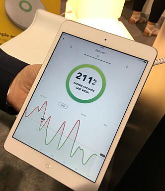 <strong>KAN VARIERE MYE:</strong> Via appen får du se hva radonnivået ligger på over tid. Foto: Bjørn Eirik Loftås