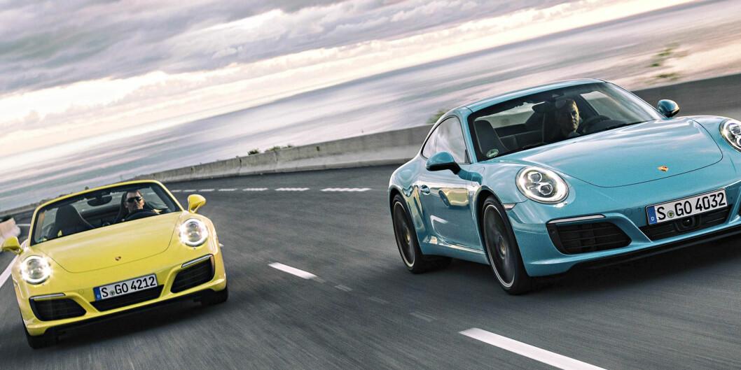 <b>NÅ MED TURBO:</b> Billigste 911 fås nå med turbo og en mindre facelift, men har det gjort den bedre? Foto: PORSCHE