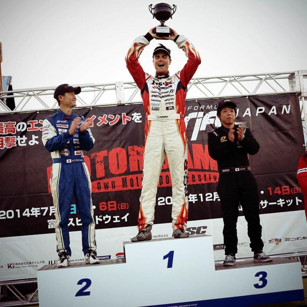 <strong><b>SERIE-VINNER:</strong></b> Etter mange ganger på pallen verden over, smakte det godt å dra inn totalseier for Formula Drift Asia.
