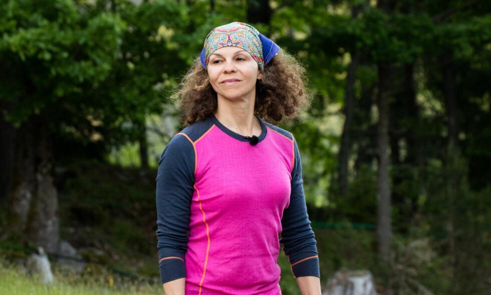 MÅTTE REISE HJEM: Trimdronning og kvinnesaksforkjemper Kari Jaquesson måtte forlate «Kjendis-Farmen» etter én uke. Foto: Alex Iversen / TV 2