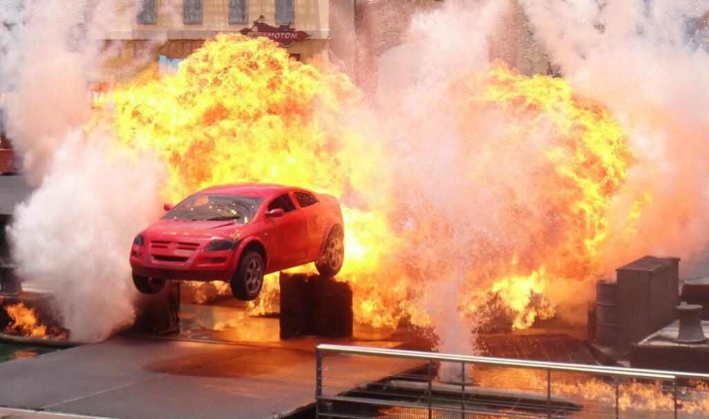 Heftige actionshows er jevnlig  underholdning hos  Universal Studios. Foto: PantherMedia