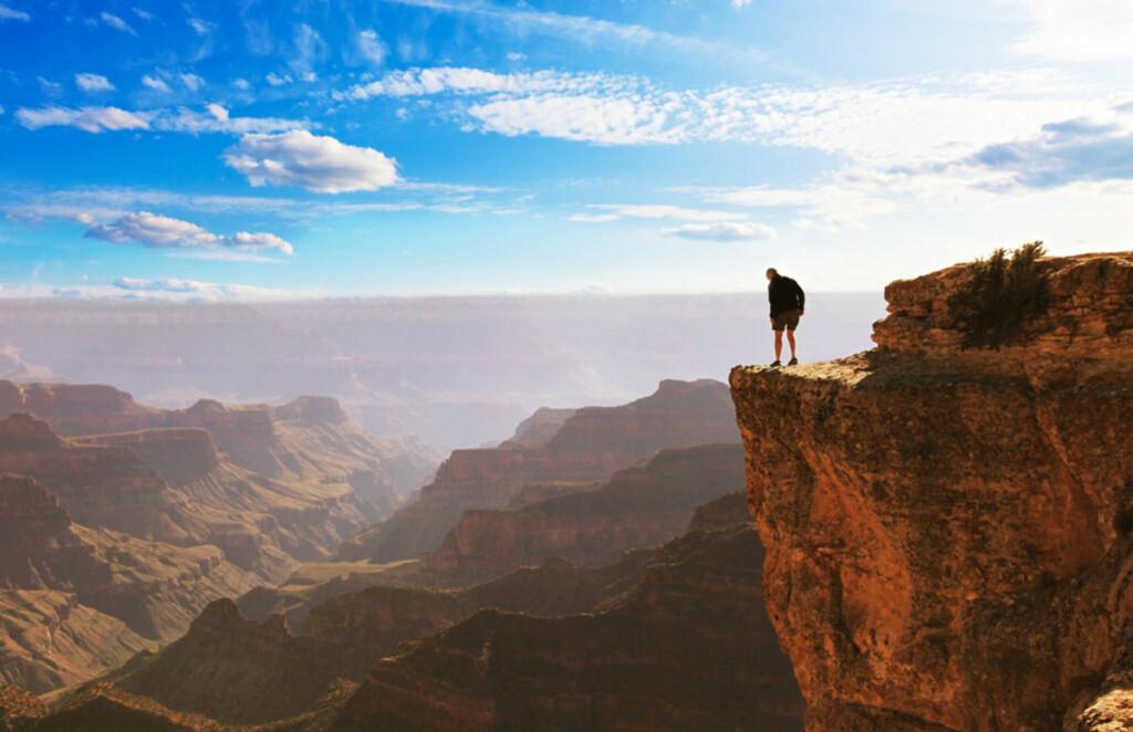 Hallo? Ekko-ekko-ekko …Norske fjellknauser blir en smule puslete etter møtetmed Grand Canyon. Foto: PantherMedia / Galyna Andrushko