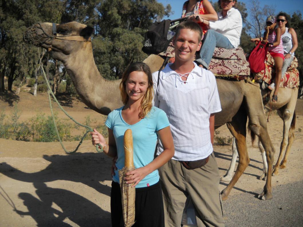 Her er beviset som sier at en fint kan haike seg til kamelenes kontinent og tilbake. Foto: Maciej Wedel