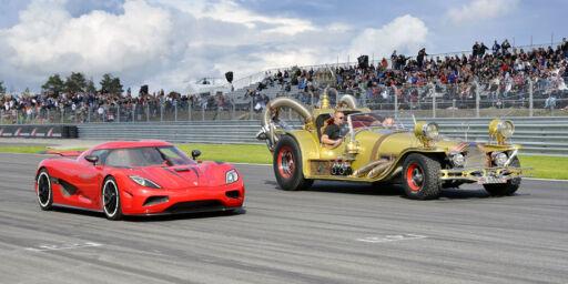 image: Il Tempo Gigante møter Koenigsegg på bane