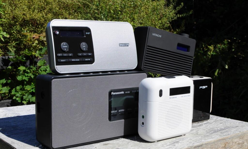 VALGETS KVAL: Det er forskjell på DAB-radioer både når det gjelder lyd, batterilevetid og praktisk bruk. Foto: Tore Neset