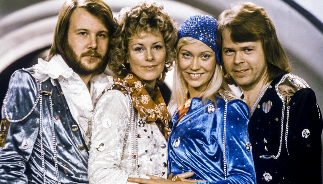 ABBA: Den svenska popgruppen Abba regjerte på 70 og 80-tallet fr. v. Benny Andersson, Anni-Frid Lyngstad, Agnetha Fältskog och Björn Ulvaeus etter de vant melodifestivalen i Sverige med sitt bidrag «Waterloo». Foto: Olle Lindeborg / TT