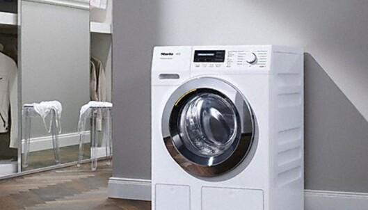 <strong>VINNERMERKE:</strong> Tyske Miele er nummer en både på vaskemaskiner, tørketromler og oppvaskmaskiner. Foto: Miele